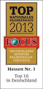 Top Nationales Krankenhaus 2013 - Hessen Nr. 1